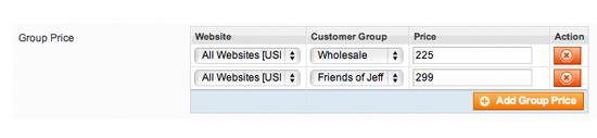 Configurazione Prezzi Magento prezzi per gruppi clienti B2b