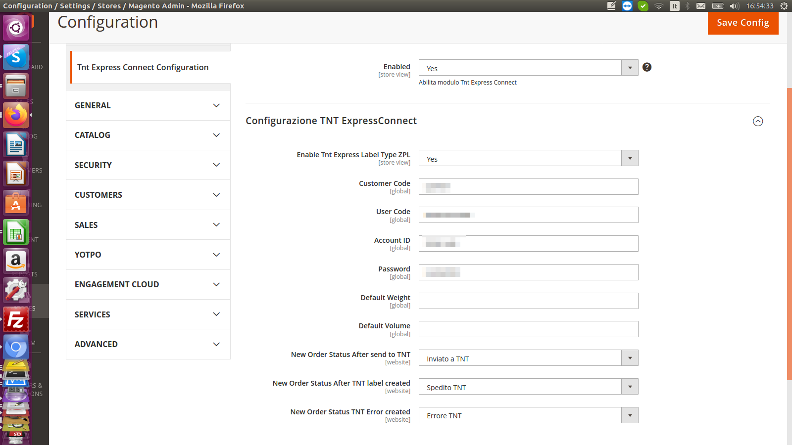 Configurazione Modulo Magento 2 TNT Express Connect