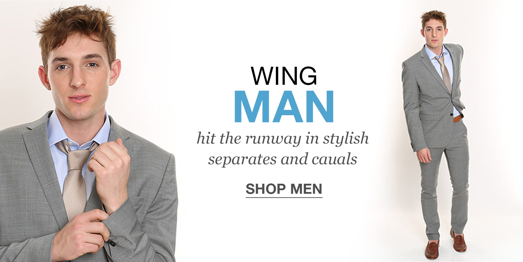 Wing man - hit the runway in stylish separates and casuals - Click to Shop Man